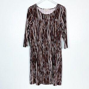 Jones New York black brown white DRESS size XXL